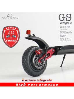 GS integrale,monopattino elettrico off road 2000W, 2 motori